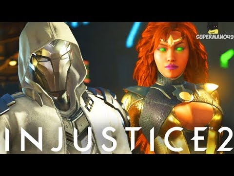 "EPIC GOLD STARFIRE VS CHROME RED HOOD #ROYALTY - Injustice 2 ""Starfire"" Gameplay"