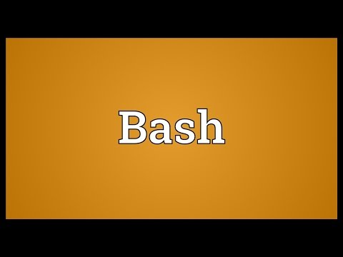 Bash Meaning