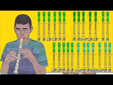 Katy perry firework en flauta dulce con notas