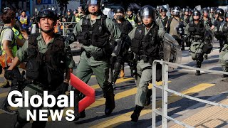 Hong Kong protests: Riot police intercept, arrest protesters as violence continues