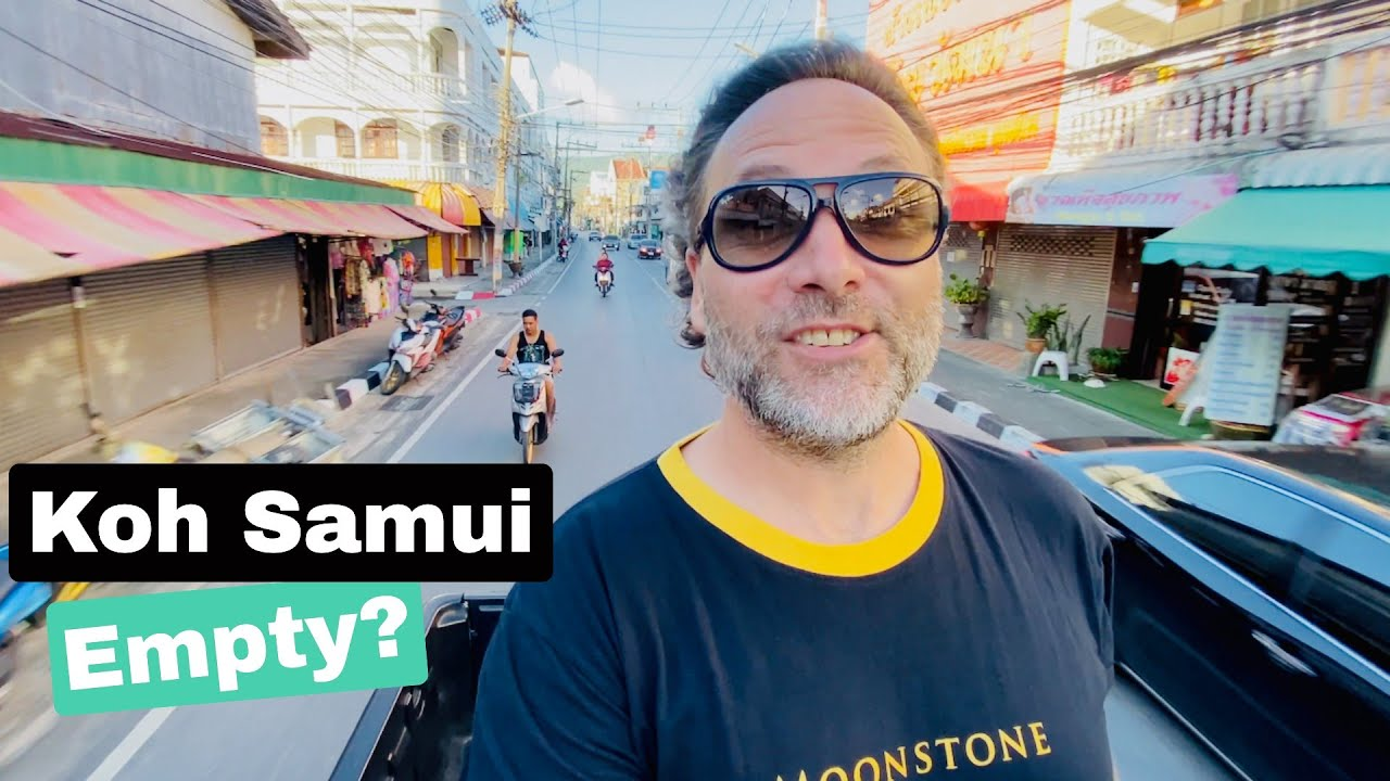 KOH SAMUI TOUR (from the back of a truck) - AMAZING SUNSET!!