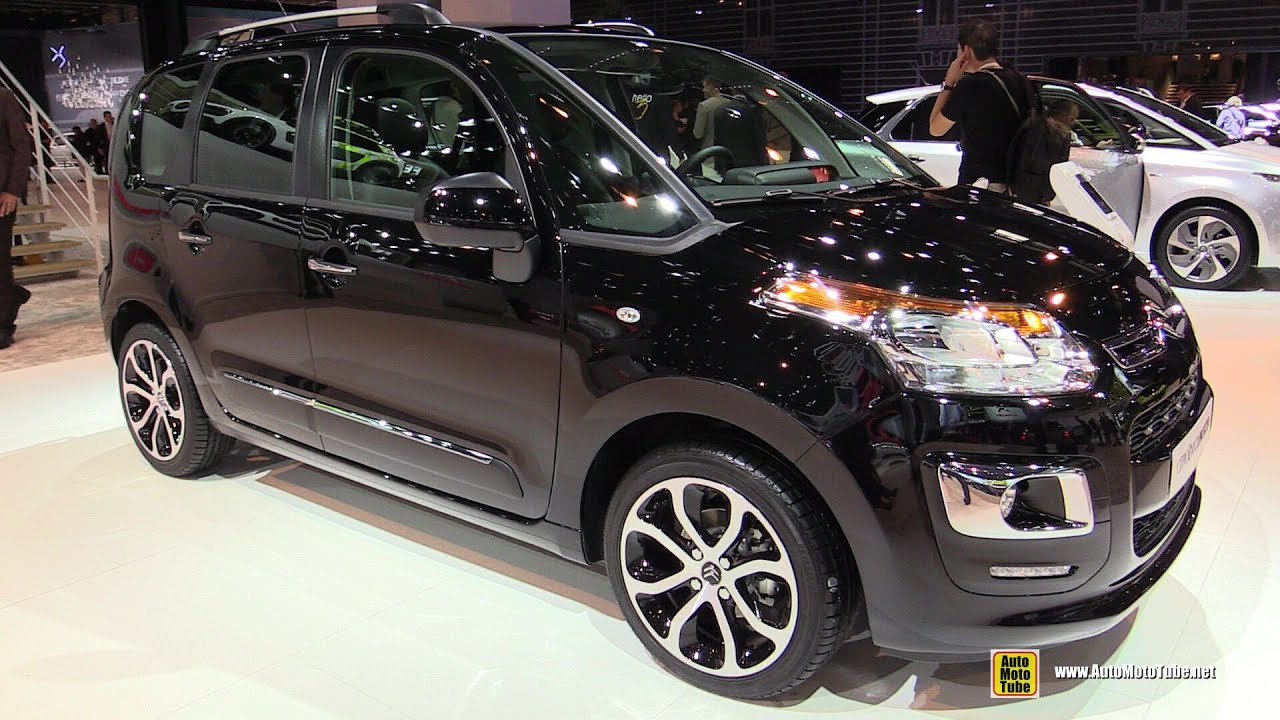 2015 citroen c3 picasso hdi exclusive exterior and interior walkaround 2014 paris auto show. Black Bedroom Furniture Sets. Home Design Ideas