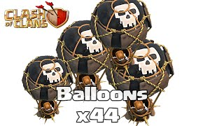Clash of clans - Balloons Max Gameplay (Attack with level 6 balloons)