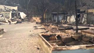 Valley fire: Devastation at Harbin Hot Springs