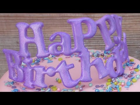 How To Use The FMM Curved Words Happy Birthday Cutter Cake Craft World