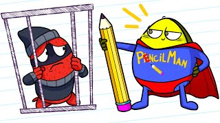 Pencilmation Ist Super-Helden - Cartoons