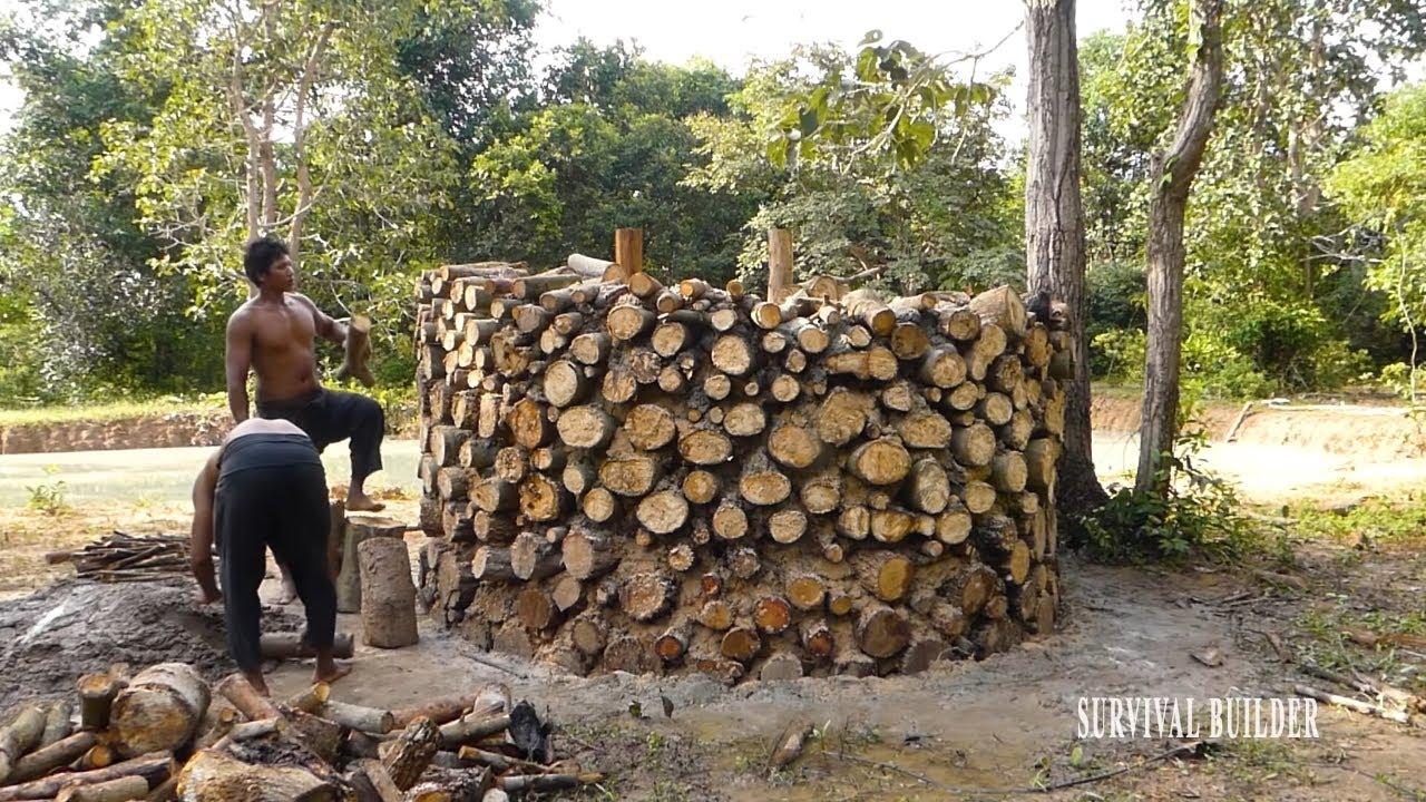 Survival Builder: Building Fire Log Villa Part 01