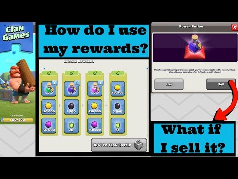 HOW TO USE MAGICAL POTIONS AFTER COMPLETING CLAN GAMES   CLAN REWARD EXPLANATIONS   Clash of clans