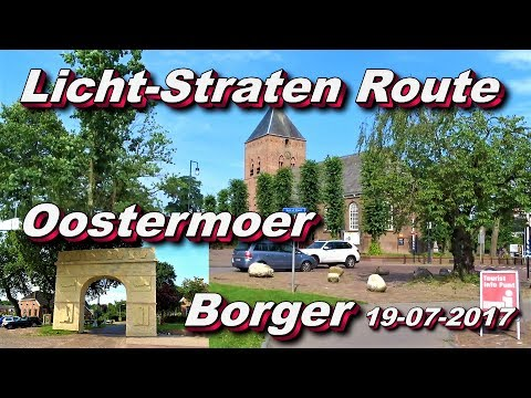 Licht-straten route Oostermoer feest Borger 19 07 2017