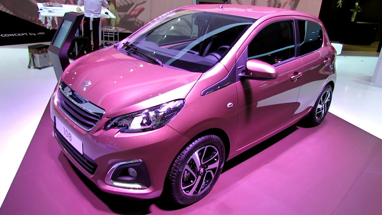 2015 peugeot 108 allure exterior and interior walkaround debut at 2014 geneva motor show. Black Bedroom Furniture Sets. Home Design Ideas