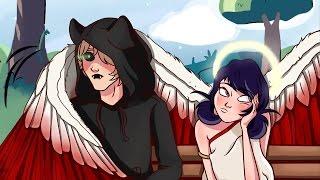 Комикс Леди Баг и Супер Кот | AU Ангел и Демон