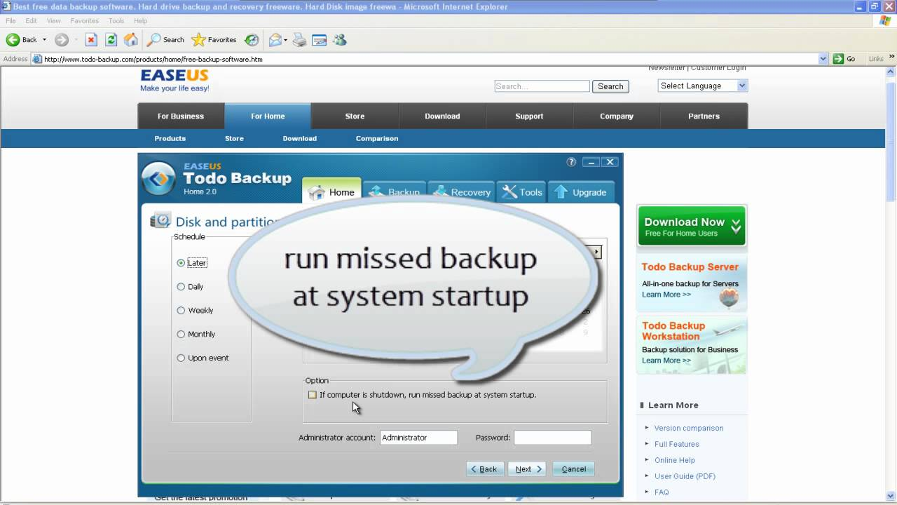 Free Automatic Scheduled Backup Software