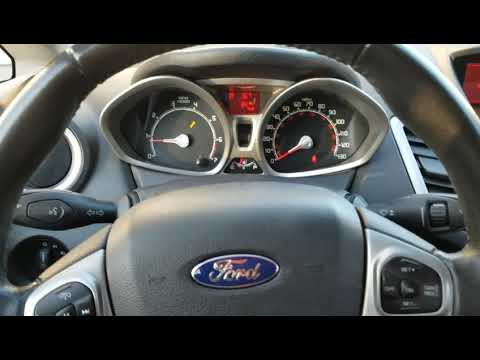 How To Clear Reset Oil Wrench On Dash Ford Fiesta