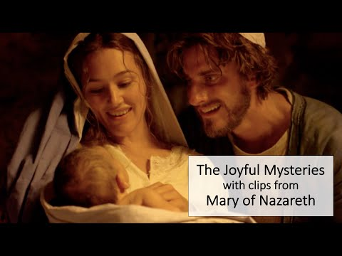 The Joyful Mysteries of the Rosary with Movie Clips for Meditation (Slower Version)
