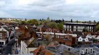 View over Abingdon on Thames from the County Hall