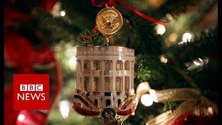 White House Christmas decorations unveiled - BBC News