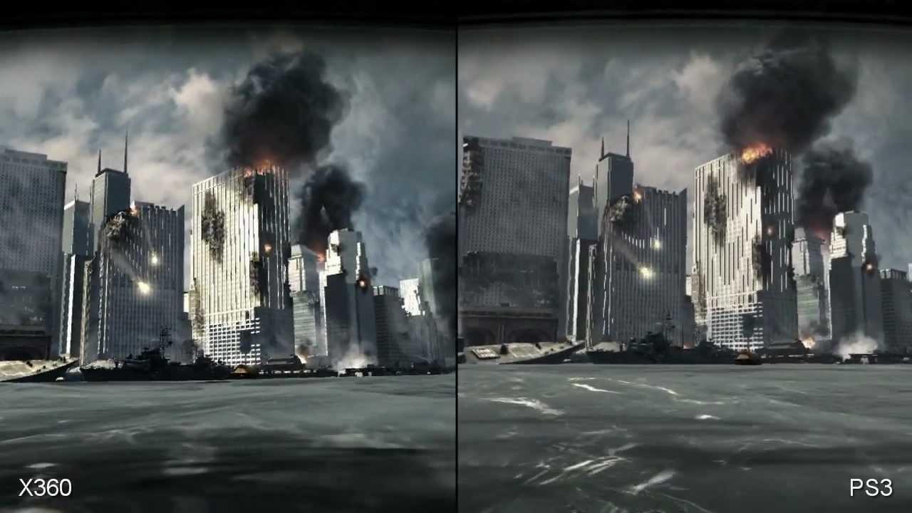 CODModern Warfare 3 PS3 Vs XBOX 360 GraphicsSPLIT SCREEN HD YouTube