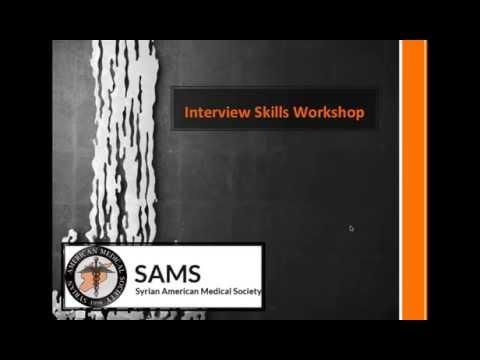 Interview Skills Workshop - MATCH 2016