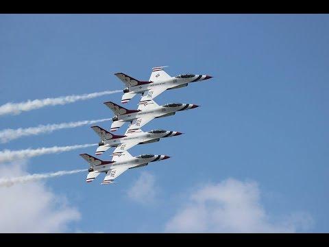 USAF Thunderbirds Sunday (with comms) - Sun N' Fun 2015