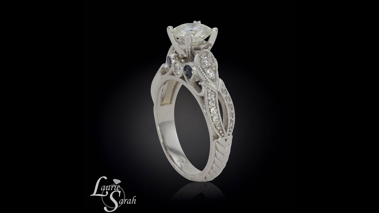 ctw a diamond ebs one ghi in ring gold engagement forever sapphire moissanite carat white and with