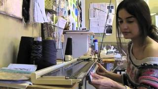 Young & Able Studio Visit: Machine Knitting with Jessica Velez