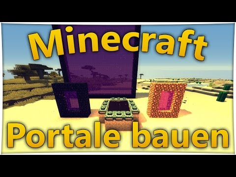Minecraft Enderportal bauen - Nether Portal bauen - Portal zum Himmel [MINECRAFT DEUTSCH] - 1.8