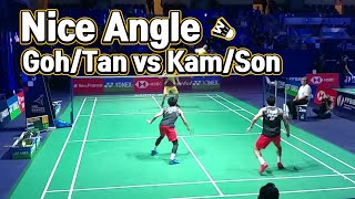 Low nice angle badminton match highlight -- Goh/Tan vs Kamura/Sonoda