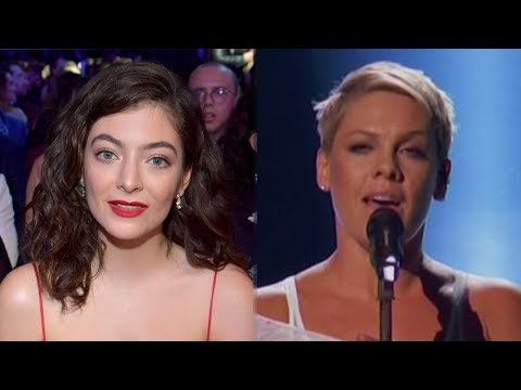 Lorde REACTS To Pink's 2018 Grammys Performance & Gets Called Out
