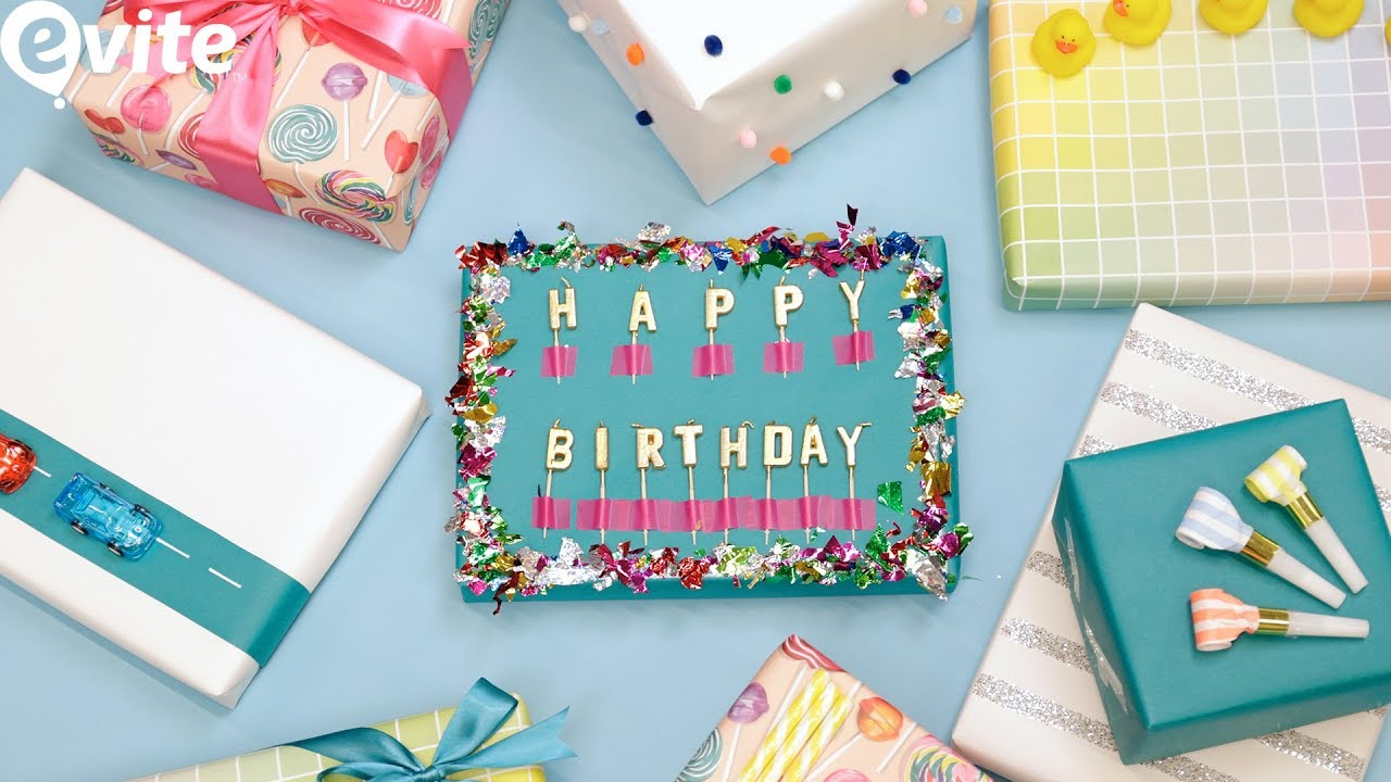 The BEST Birthday Gift Wrapping Tips Tricks