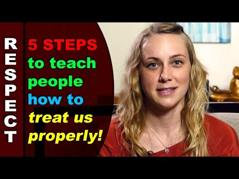 Personal Boundaries: 5 ways to teach people how to treat us properly!