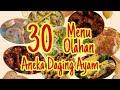 30 Menu Olahan Daging Ayam