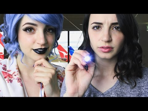 [ASMR] Daisy & Dr. Gibi Treat Your Anxiety - Airport Roleplay (Twin/Clone)