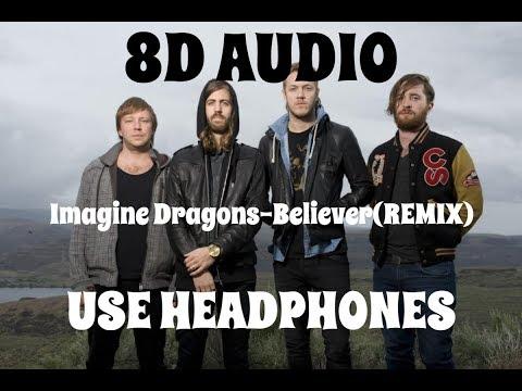(8D AUDIO!!!)Imagine Dragons-Believer(REMIX)(Ft.  Lil Wayne)(USE HEADPHONES!!!)