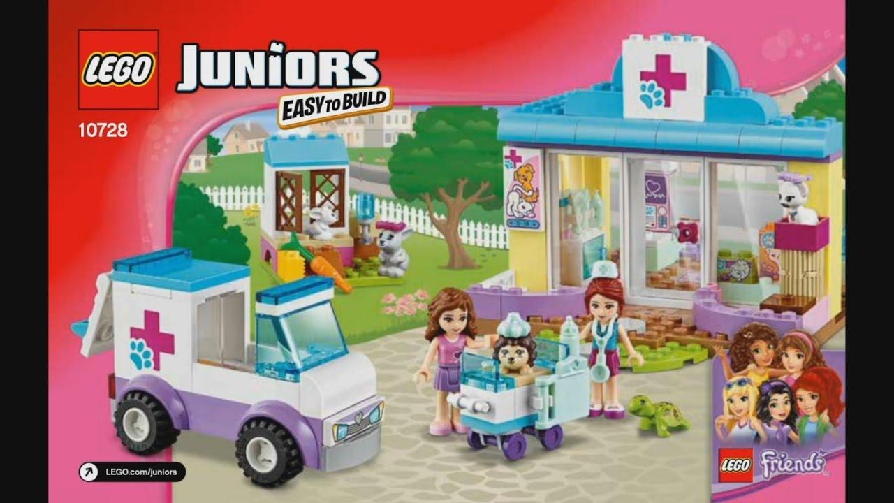 Lego Juniors Friends 10728 Mias Vet Clinic Instruction Timelapse