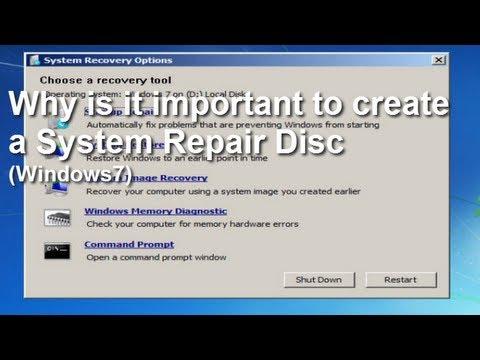 How to make repair disk windows 7 usb