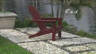 All-weather Wooden Adirondack Folding Chair, Ottoman And Side Table - Plow & Hearth
