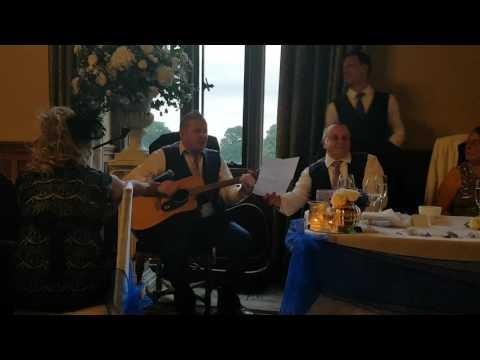 Best Man sings wedding speech with comedy Oasis parody!