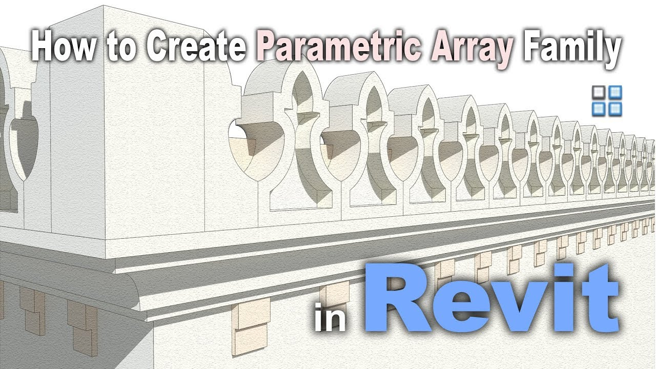 How to Create Parametric Array Family in Revit | Revit Tutorial