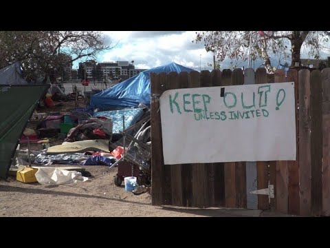Faced with camp evacuation, California homeless live in fear
