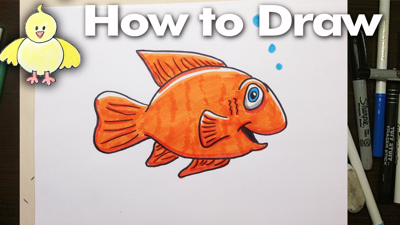 How to draw a goldfish 42