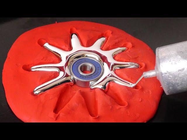 DIY Spiky Gallium Fidget Spinner - Sunshine!
