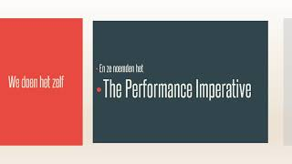 The Non Profit Performance Imperative
