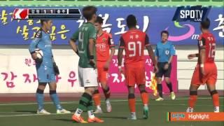 2015 K리그 챌린지 39R 강원FC vs 충주험멜 하이라이트