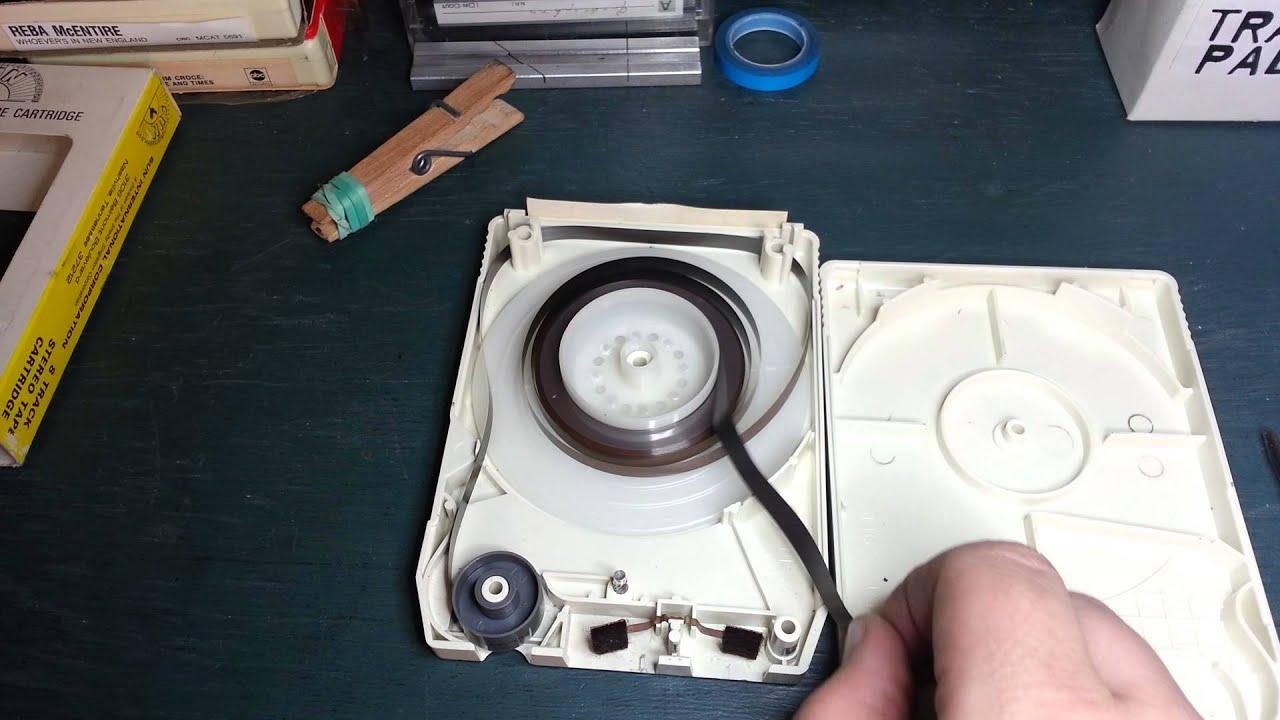 8-track Tape Repair - Opening A Rivet Cart