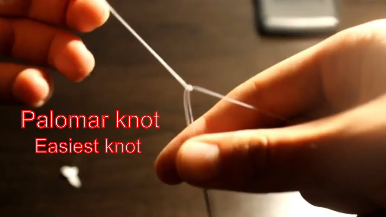how to make a palomar knot