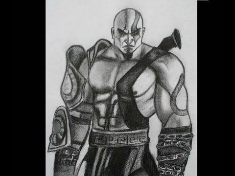 How To Draw Kratos God Of War 3 Youtube