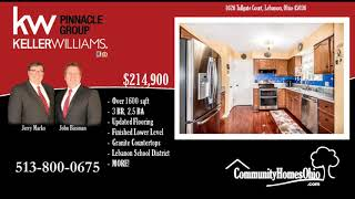 Cincinnati Homes for Sale  1626 Tollgate Ct, Lebanon, OH 45036  3 Bdr Home for Sale