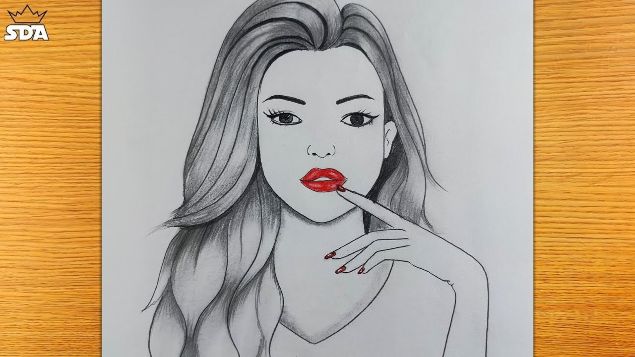 How to draw a girl with a BEAUTIFUL hairstyle @Sudip Drawing Academy