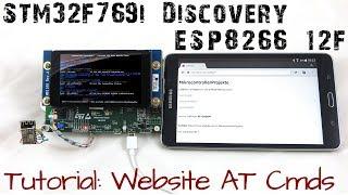STM32 ESP8266 12F Wifi Tutorial Website