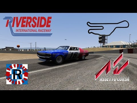 Assetto Corsa 1971 AMC Matador hotlap @ Riverside International Raceway